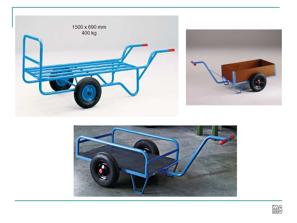 Wózki jezdniowe ręczne naładowne - platformowe platforma 500x1000mm nośność 320 kg 620x420 mm 100 kg 1200 x 700 mm 700 kg