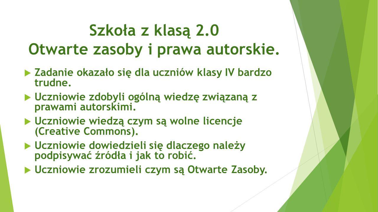 Szkoła z klasą 2.0 Otwarte zasoby i prawa autorskie.