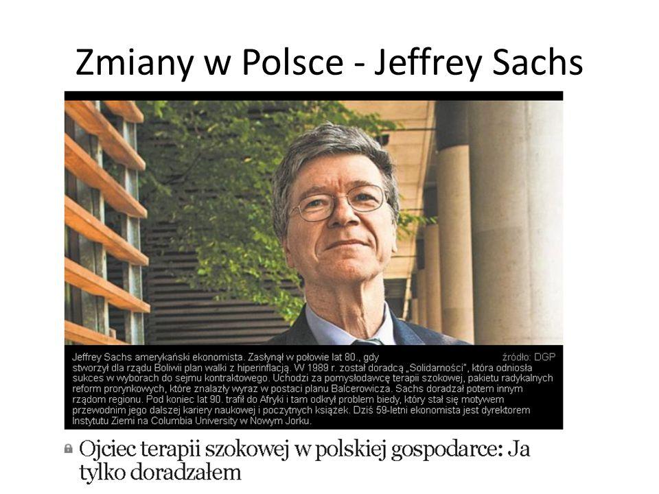 Zmiany w Polsce - Jeffrey Sachs