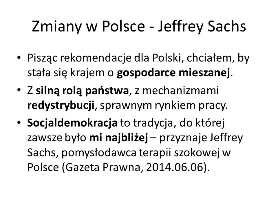 Pisząc rekomendacje dla Polski, chciałem, by stała się krajem o gospodarce mieszanej.