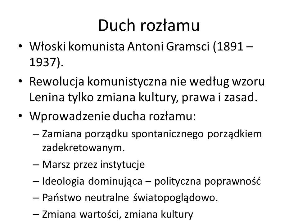 Duch rozłamu Włoski komunista Antoni Gramsci (1891 – 1937).