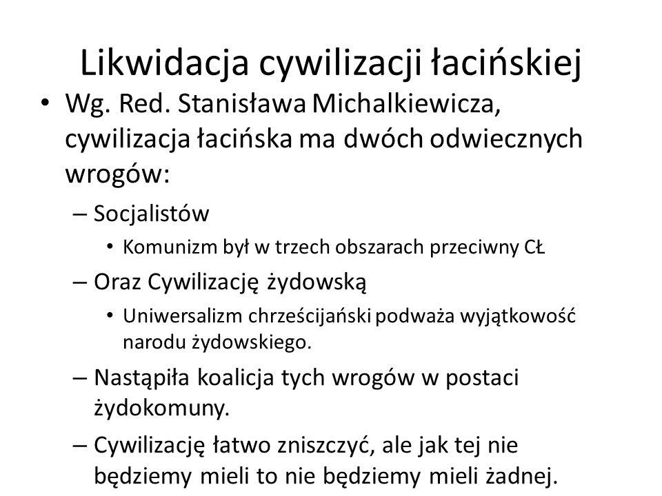 Likwidacja cywilizacji łacińskiej Wg. Red.