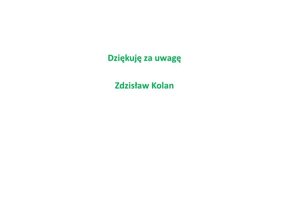 Dziękuję za uwagę Zdzisław Kolan