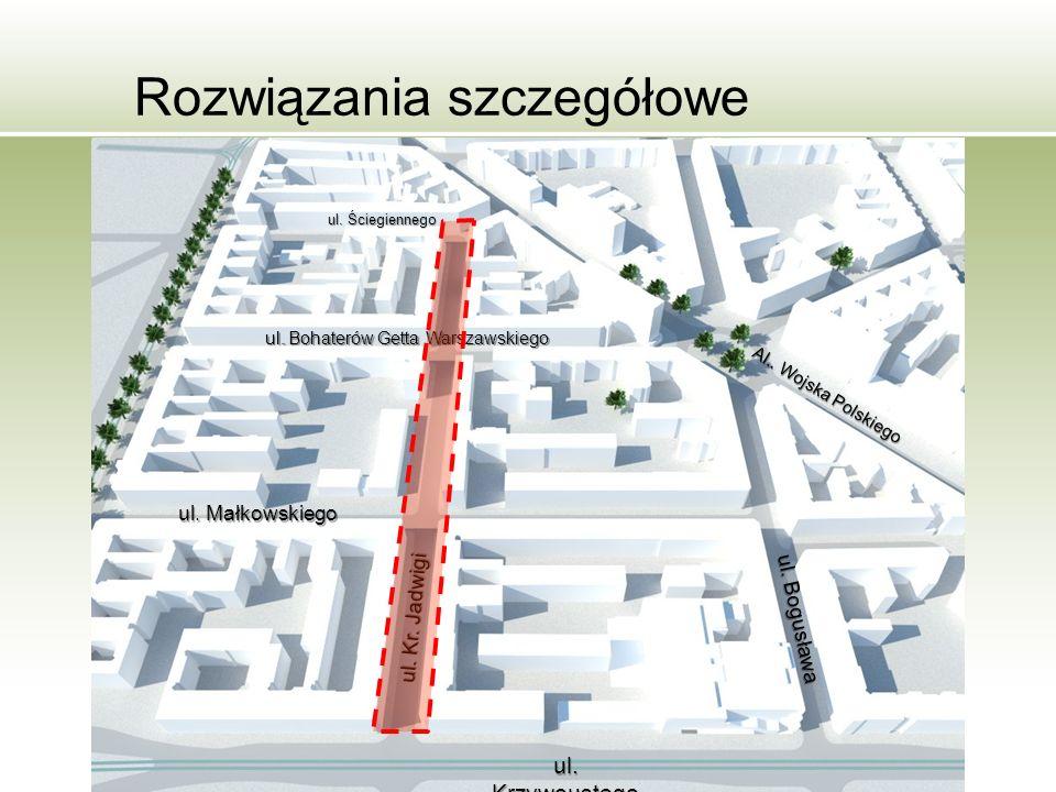 Rozwiązania szczegółowe ul. Krzywoustego ul. Małkowskiego ul.