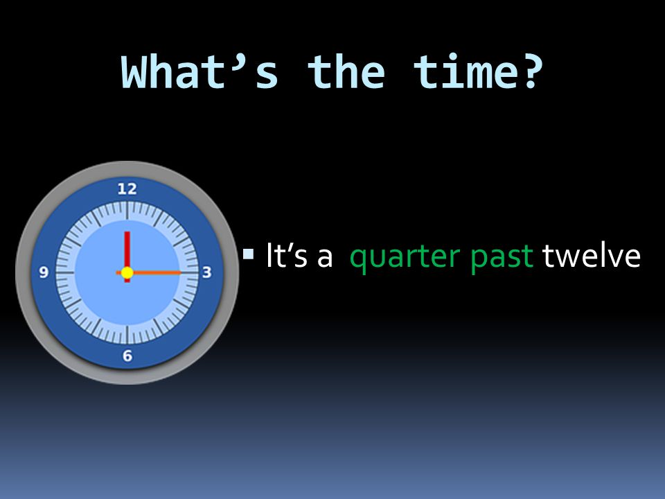 What's the time?  It's a quarter past five