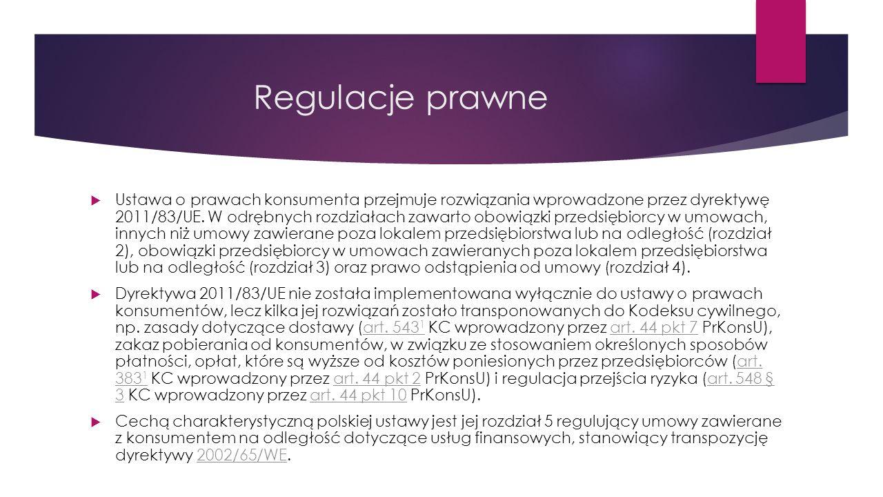 Zawieranie umów z konsumentem przez telefon Art.20 ustawy o prawach konsumenta 1.