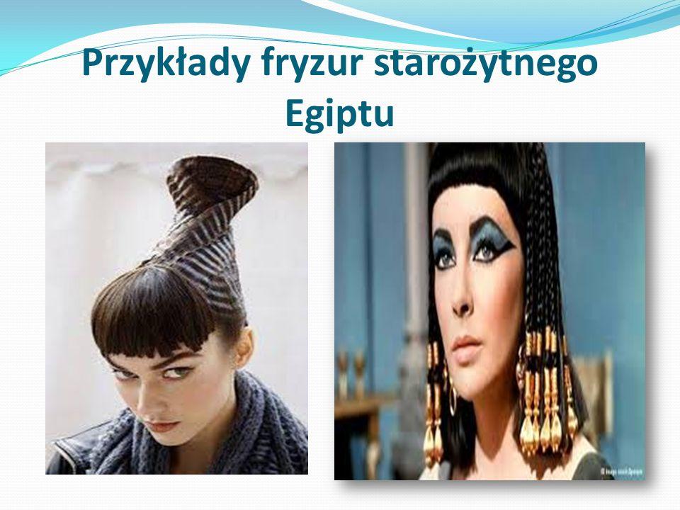 Przykłady fryzur starożytnego Egiptu