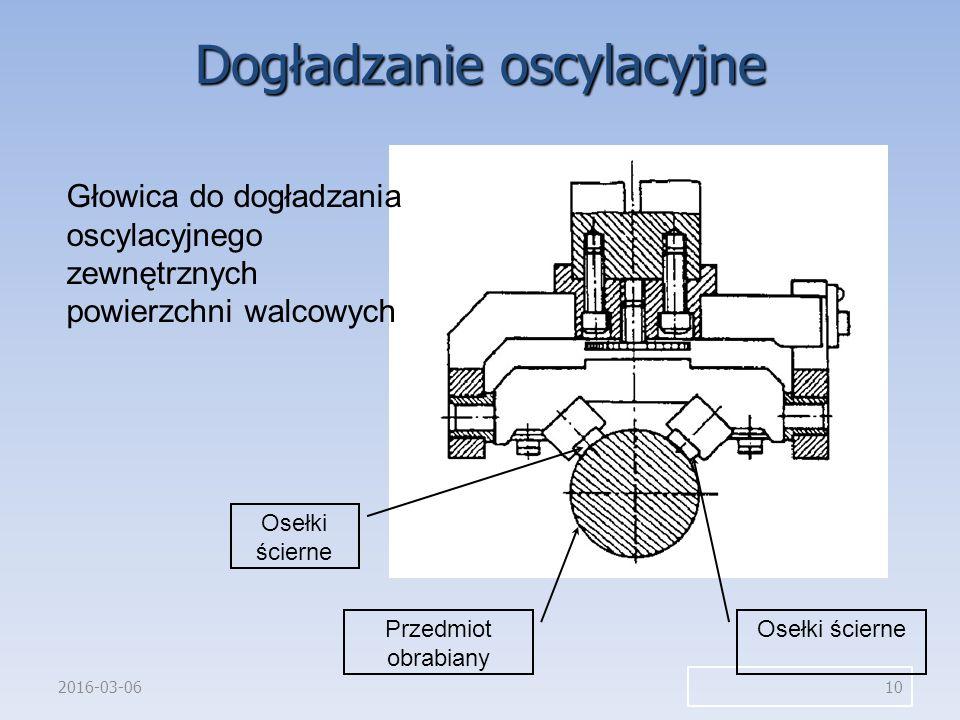 2016-03-06 10 Głowica do dogładzania oscylacyjnego zewnętrznych powierzchni walcowych Przedmiot obrabiany Osełki ścierne Dogładzanie oscylacyjne