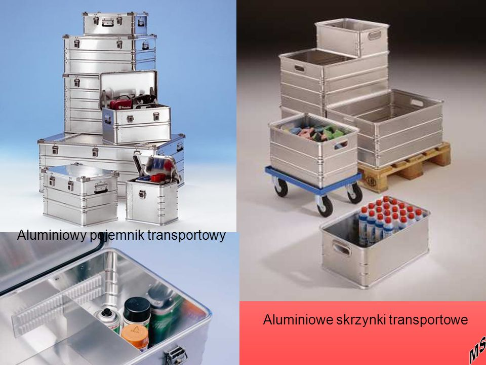 Aluminiowe skrzynki transportowe Aluminiowy pojemnik transportowy