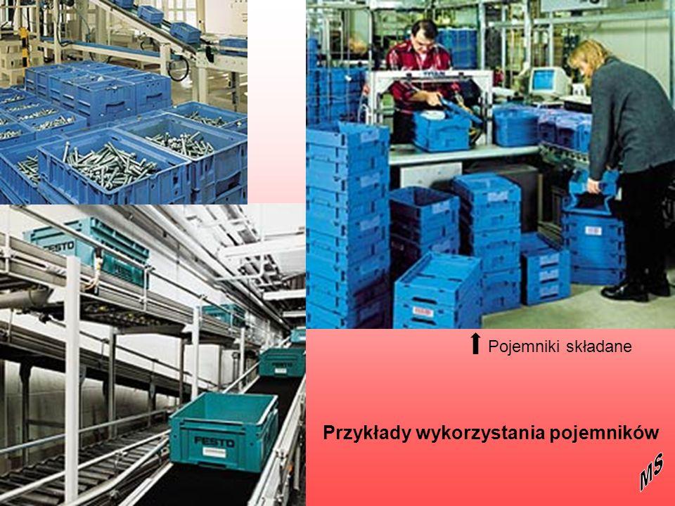 Pojemniki składane Przykłady wykorzystania pojemników