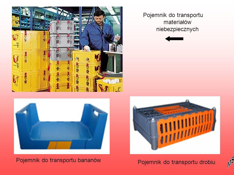 Pojemnik do transportu materiałów niebezpiecznych Pojemnik do transportu bananów Pojemnik do transportu drobiu