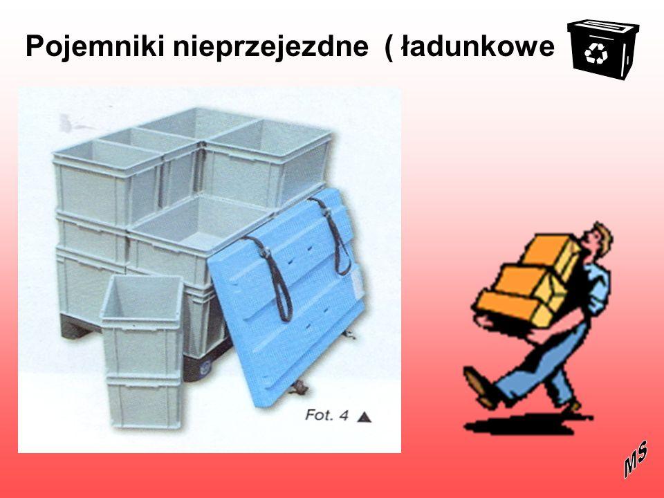 Pojemniki kurierskie Pojemniki obrotowe –dwa pojemniki możemy ułożyć jeden na drugim lub włożyć jeden w drugi, wybrany wariant uzyskujemy obracając górny pojemnik o 180 0