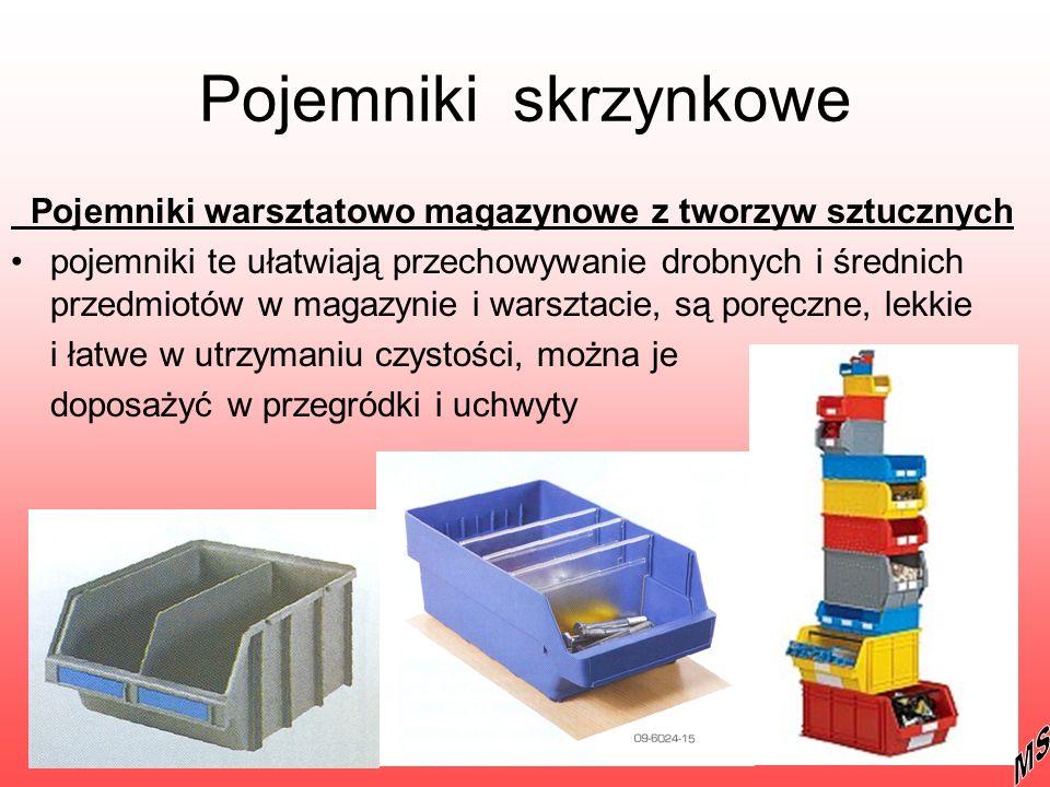 Pojemniki skrzynkowe Pojemniki warsztatowo magazynowe z tworzyw sztucznych pojemniki te ułatwiają przechowywanie drobnych i średnich przedmiotów w mag