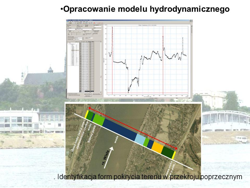 . Identyfikacja form pokrycia terenu w przekroju poprzecznym Opracowanie modelu hydrodynamicznego