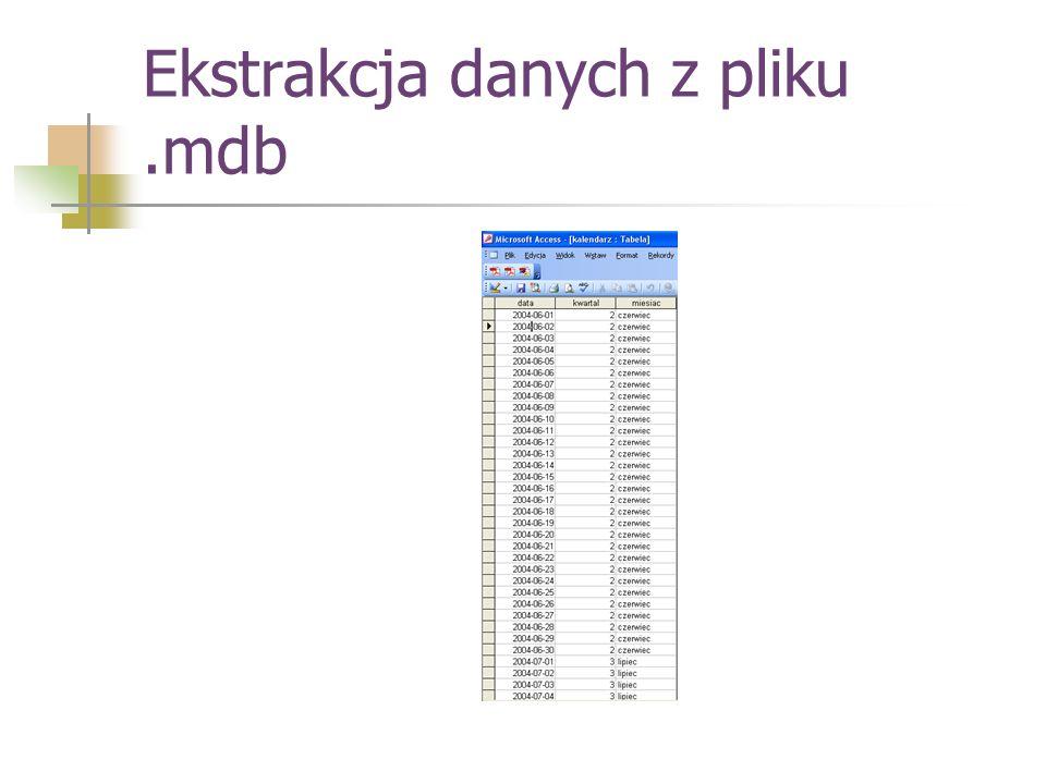 Ekstrakcja danych z pliku.mdb