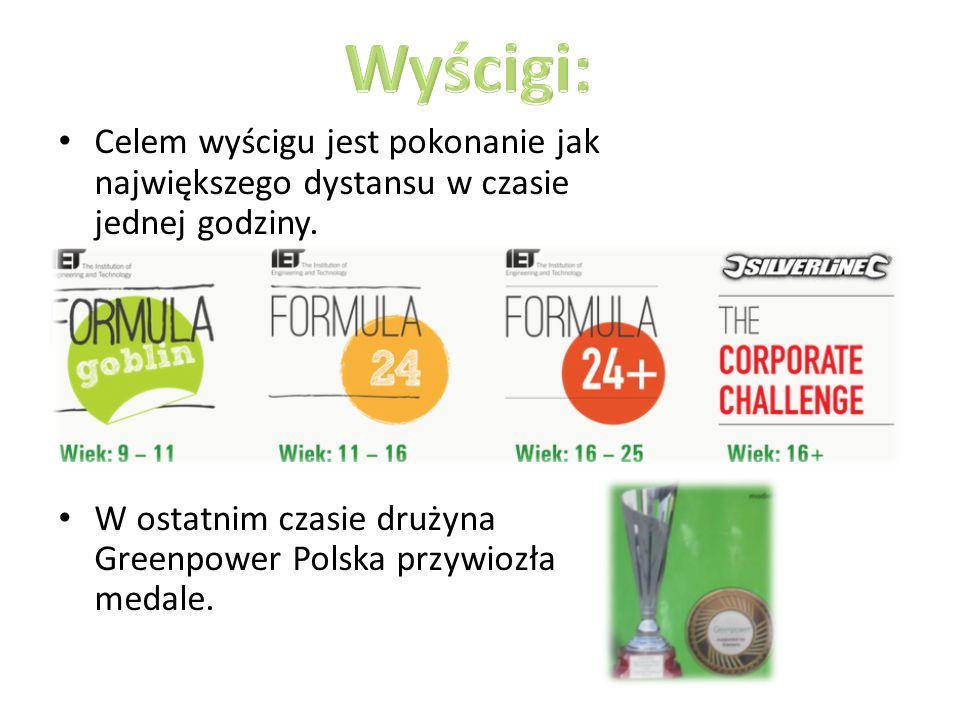 Celem wyścigu jest pokonanie jak największego dystansu w czasie jednej godziny. W ostatnim czasie drużyna Greenpower Polska przywiozła medale.
