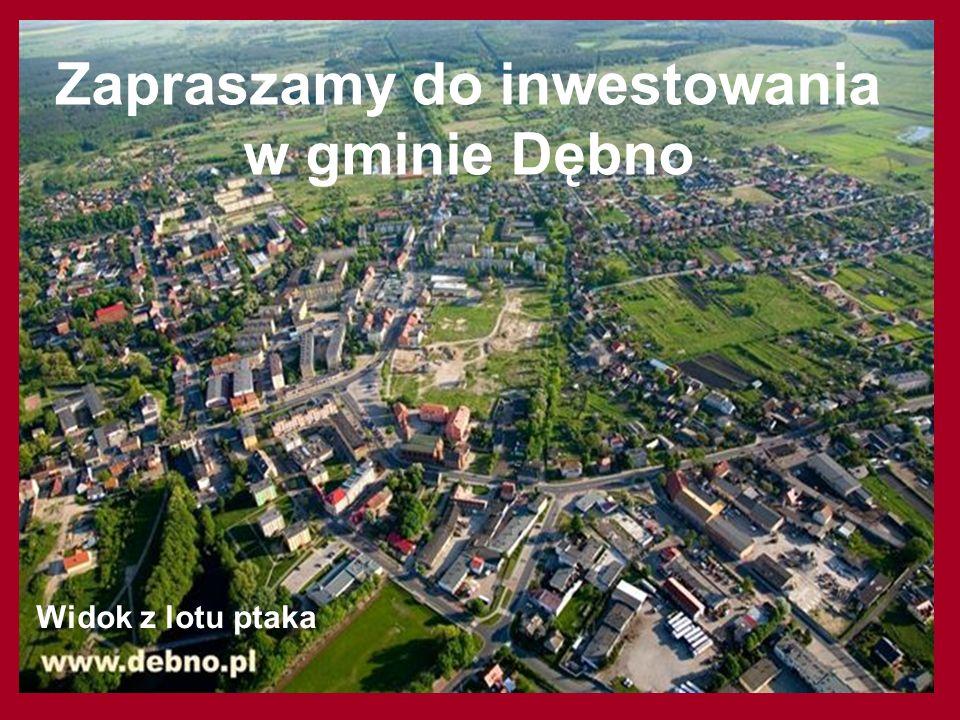 Zapraszamy do inwestowania w gminie Dębno Widok z lotu ptaka