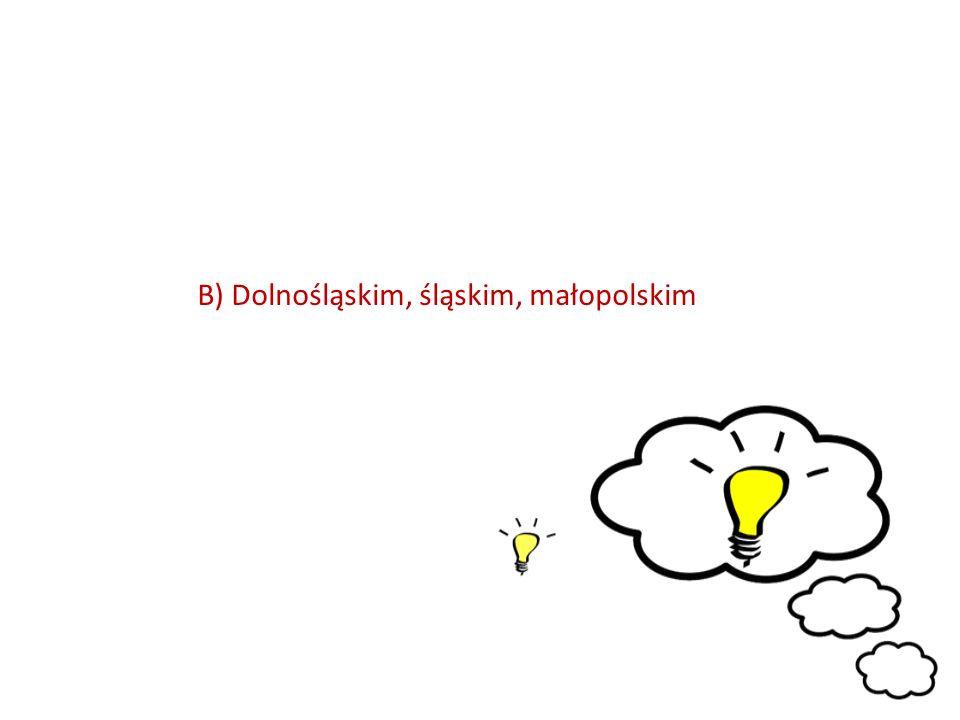 B) Dolnośląskim, śląskim, małopolskim