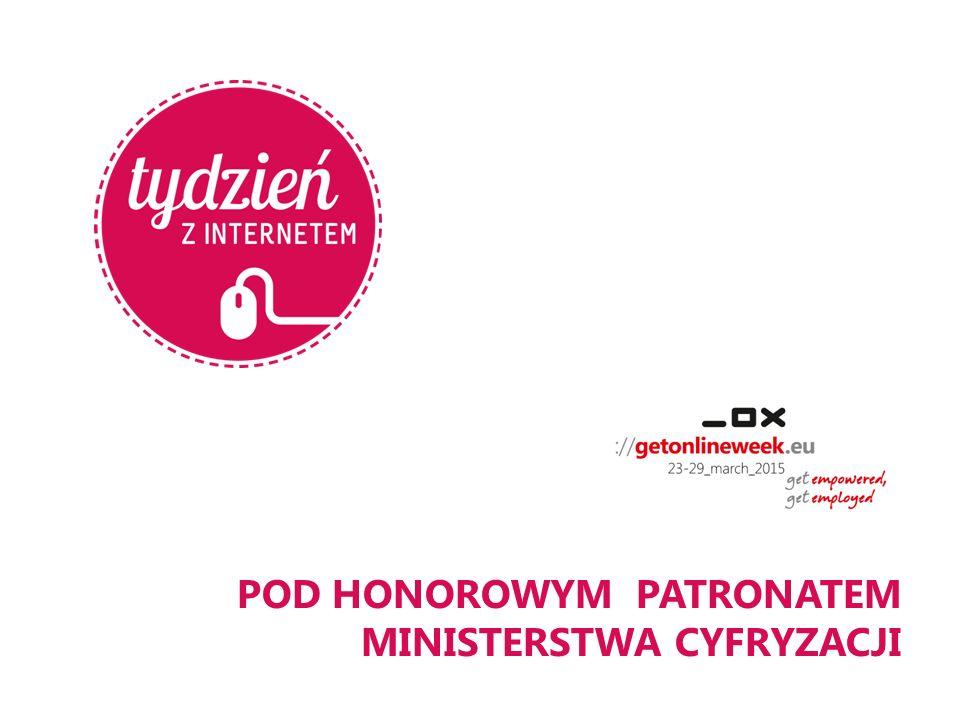 POD HONOROWYM PATRONATEM MINISTERSTWA CYFRYZACJI