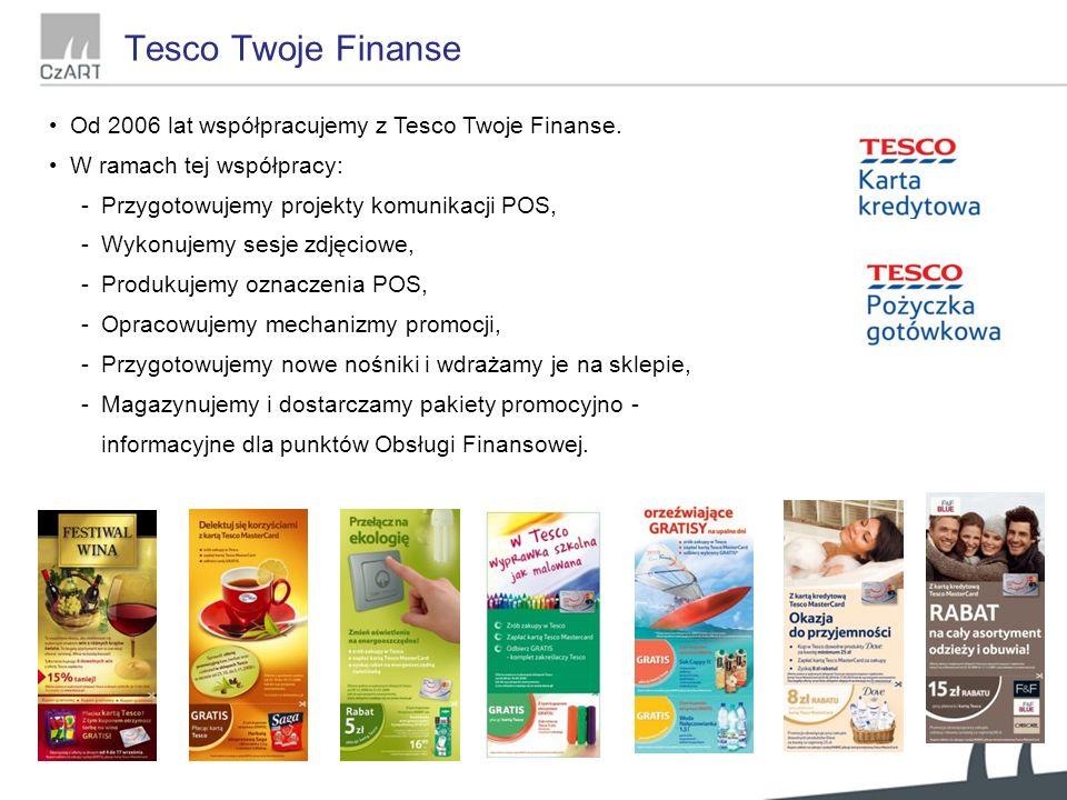 Od 2006 lat współpracujemy z Tesco Twoje Finanse.