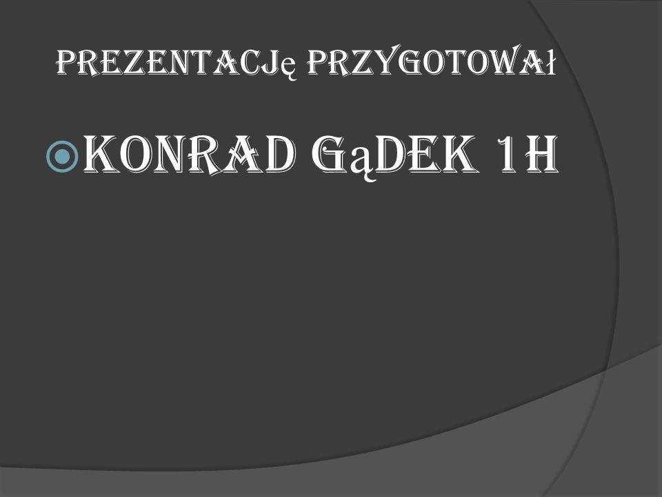 Prezentacj ę przygotowa ł  Konrad G ą dek 1H