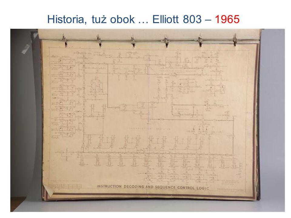 10 Elliott 803 na UWr, 1965 Historia, tuż obok … Elliott 803 – 1965
