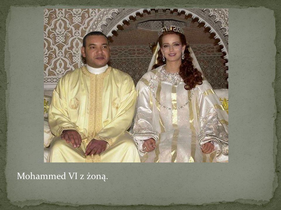 Mohammed VI z żoną.
