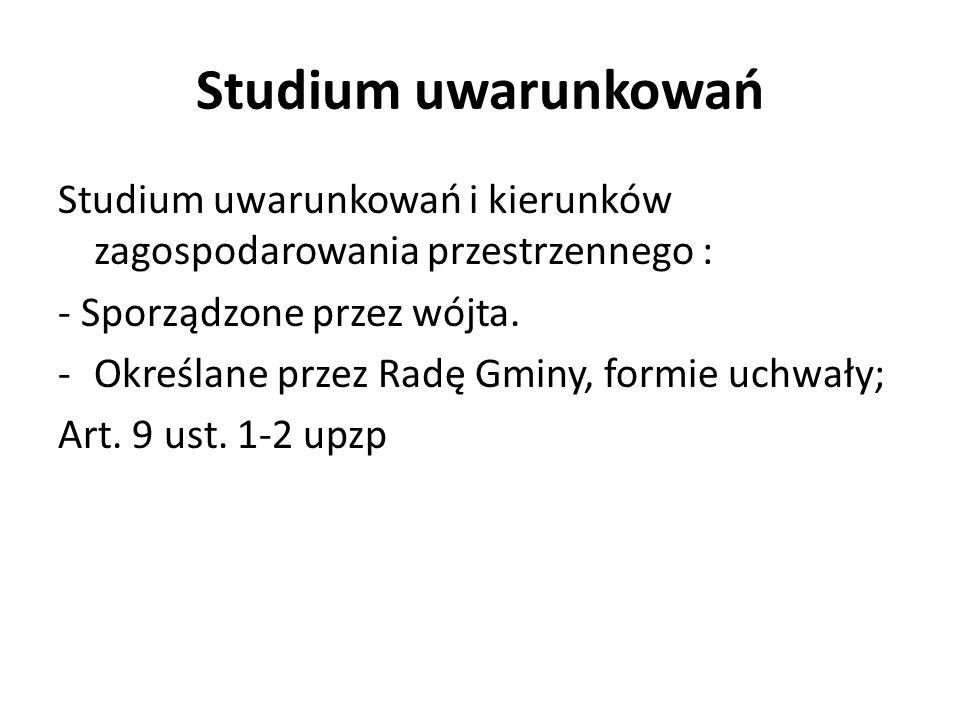 Studium uwarunkowań c.d pkt.
