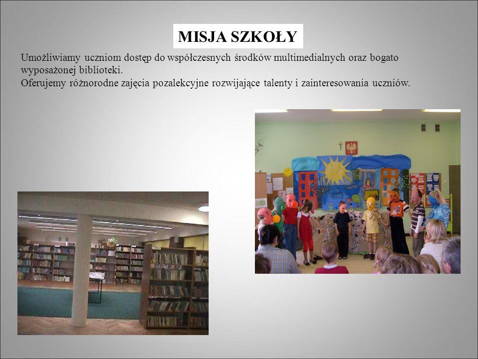 Umożliwiamy uczniom dostęp do współczesnych środków multimedialnych oraz bogato wyposażonej biblioteki.