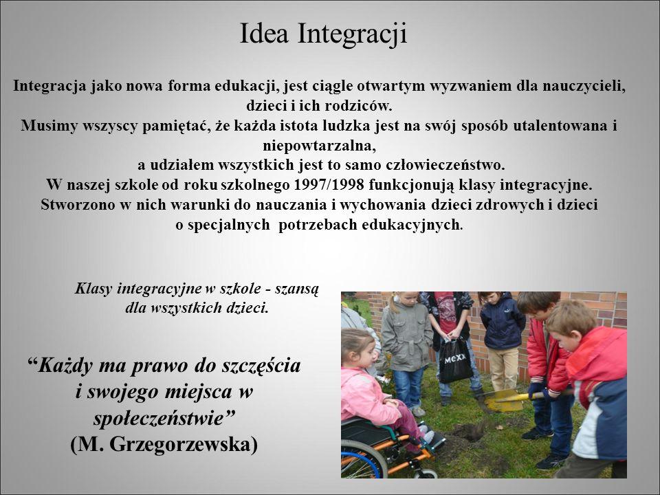 Idea Integracji Klasy integracyjne w szkole - szansą dla wszystkich dzieci.
