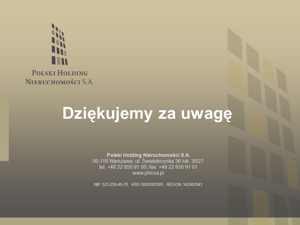 Polski Holding Nieruchomości S.A. 00-116 Warszawa, ul.