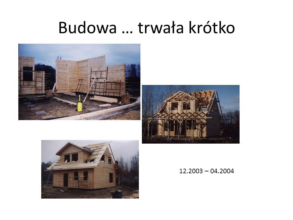 Nareszcie w domku … Pierwszy miesiąc w nowym – naszym domku (04/2004).