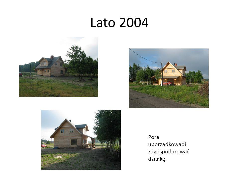Lato 2004 Pora uporządkować i zagospodarować działkę.