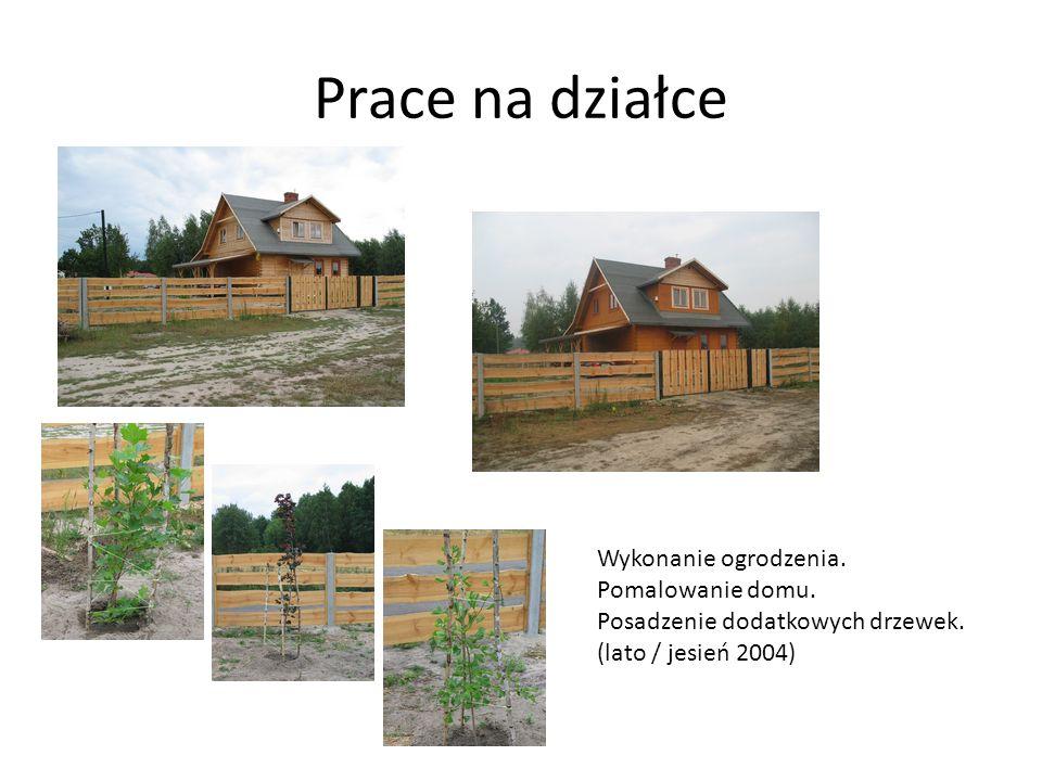 Pora na trawnik … Zakładanie trawnika na części działki. (rok 2005)