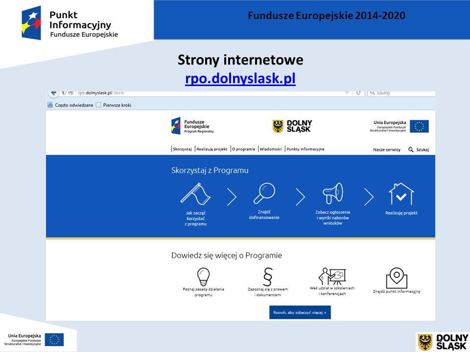 Fundusze Europejskie 2014-2020 Strony internetowe rpo.dolnyslask.pl