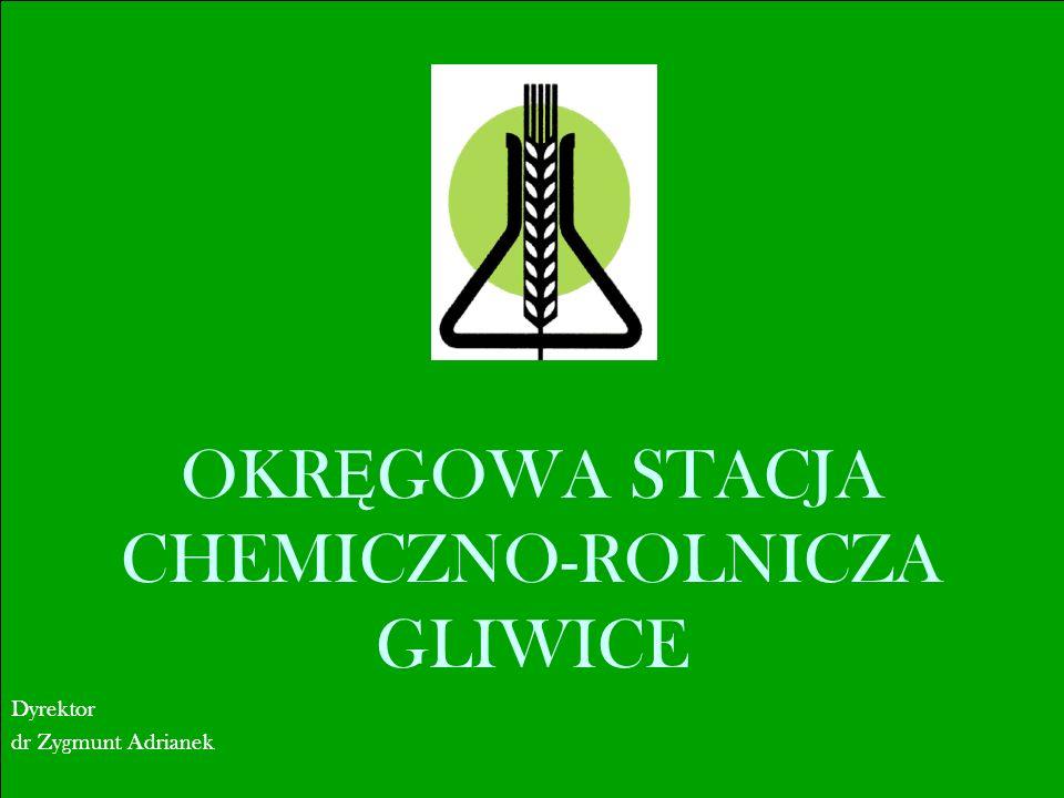 OKR Ę GOWA STACJA CHEMICZNO-ROLNICZA GLIWICE Dyrektor dr Zygmunt Adrianek