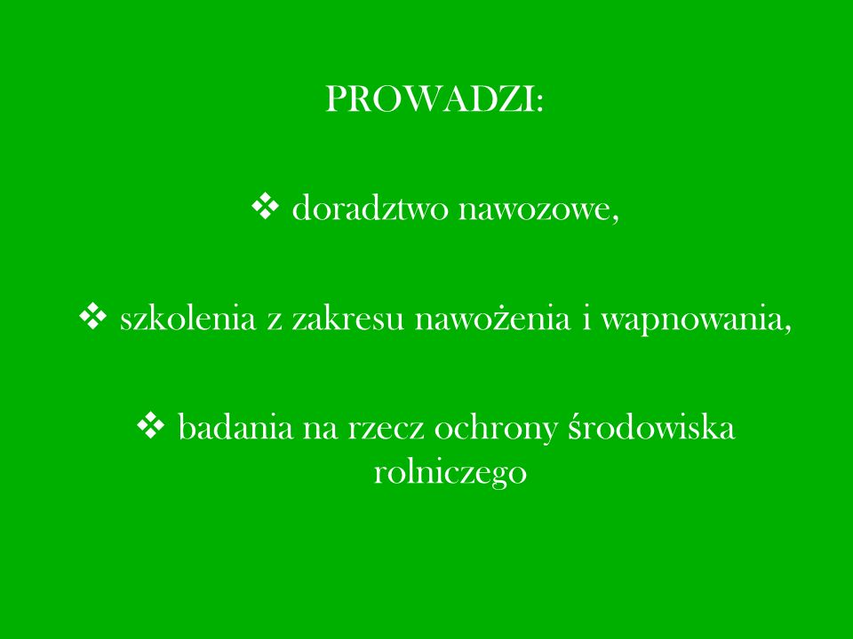 Dzia ł Laboratoryjny Okr ę gowej Stacji Chemiczno - Rolniczej w Gliwicach posiada certyfikat akredytacyjny nr AB 798