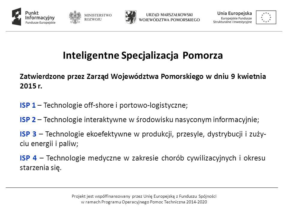 Projekt jest współfinansowany przez Unię Europejską z Funduszu Spójności w ramach Programu Operacyjnego Pomoc Techniczna 2014-2020 Inteligentne Specja