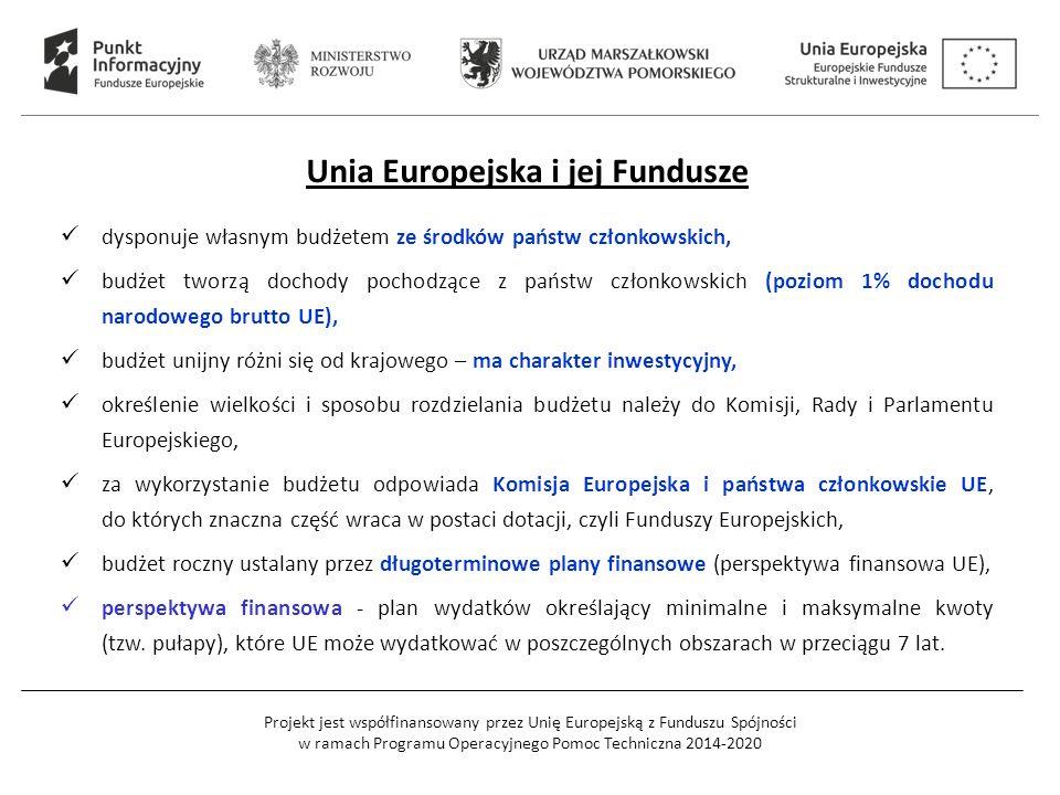 Projekt jest współfinansowany przez Unię Europejską z Funduszu Spójności w ramach Programu Operacyjnego Pomoc Techniczna 2014-2020 Unia Europejska i j