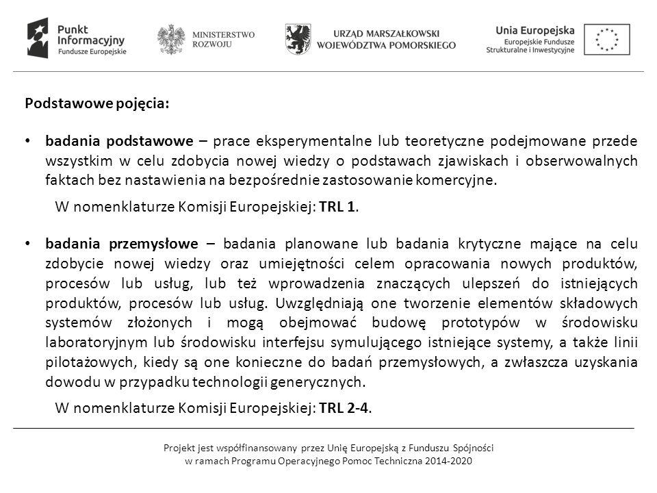 Projekt jest współfinansowany przez Unię Europejską z Funduszu Spójności w ramach Programu Operacyjnego Pomoc Techniczna 2014-2020 Podstawowe pojęcia: