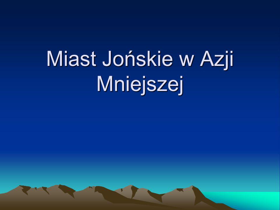 Myus Kordynaty:37°35′44″N 27°25′46″E Myus - jedno z miast jońskich zaliczane do dodekapolis, położone w Karii nad rzeką Meander, u ujścia Zatoki Latmijskiej.