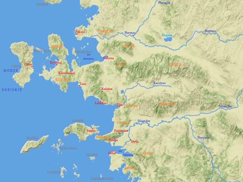 DODEKAPOLIS - ZWIĄZEK MIAST JOŃSKICH Kolonie założone przez Jonów, niezależne od siebie, tworzyły rodzaj federacji - związek 12 miast.