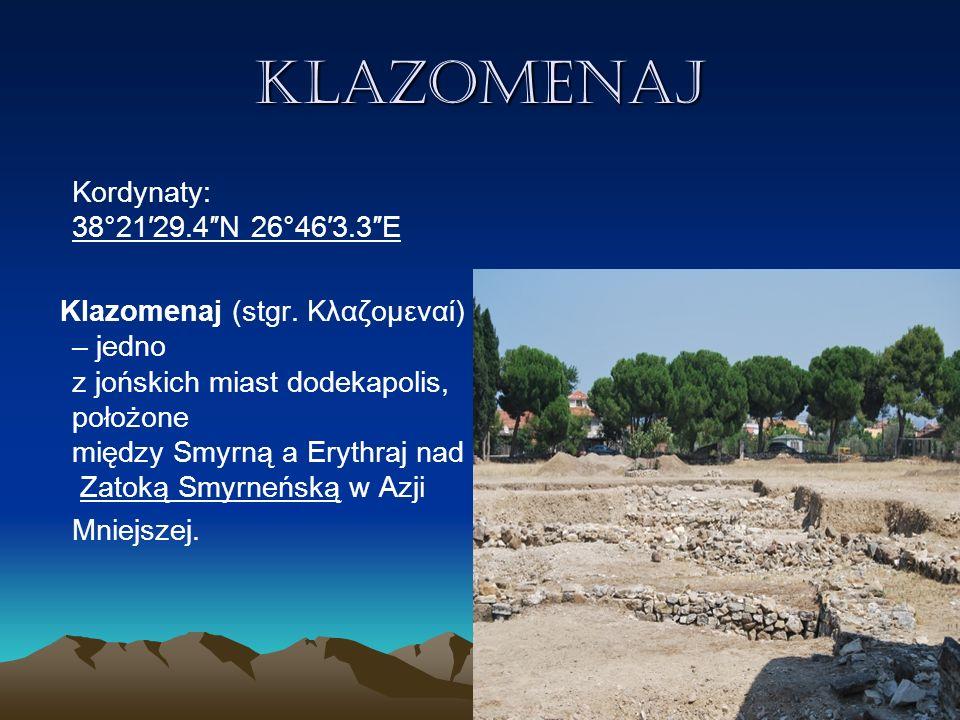 Teos Teos Kordynaty:38°10′38″N 26°47′06″E Teos - miasto jońskie w Karii, którego pozostałości znajdują się około 1 km od współczesnego tureckiego Seferi hisar.