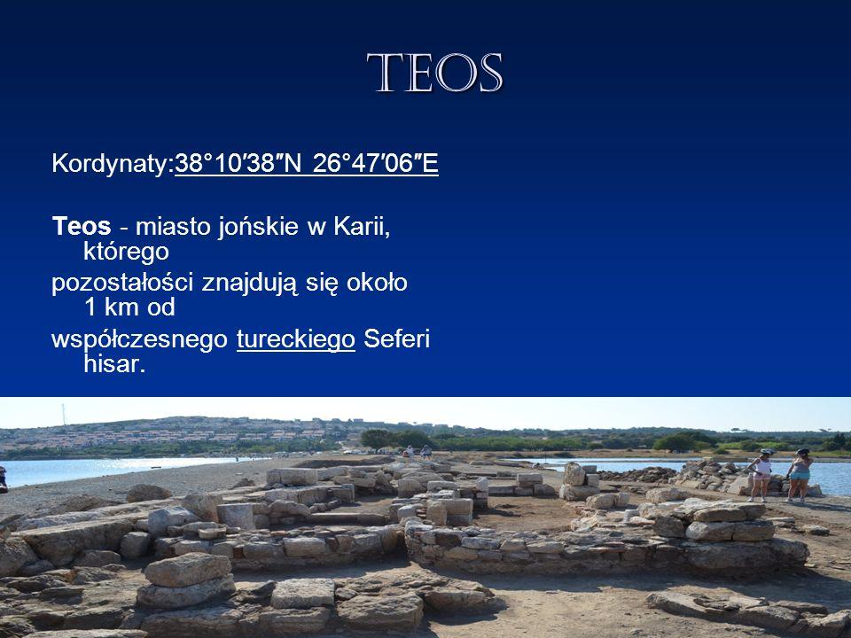 Lebedos Kordynaty: 38°4′41″N 26°57′53″E Lebedos - starożytne miasto greckie, jedno z dodekapolis (dwunastu miast jońskich).