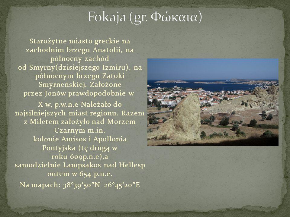 Starożytne miasto greckie na zachodnim brzegu Anatolii, na północny zachód od Smyrny(dzisiejszego Izmiru), na północnym brzegu Zatoki Smyrneńskiej. Za