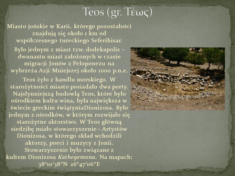 Miasto jońskie w Karii, którego pozostałości znajdują się około 1 km od współczesnego tureckiego Seferihisar. Było jednym z miast tzw. dodekapolis - d