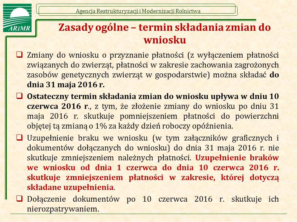 Agencja Restrukturyzacji i Modernizacji Rolnictwa Deklarowanie elementów EFA (dotyczy przykładu 2) Rolnik posiada 16 ha gruntów ornych (na których nie prowadzi rolnictwa ekologicznego).