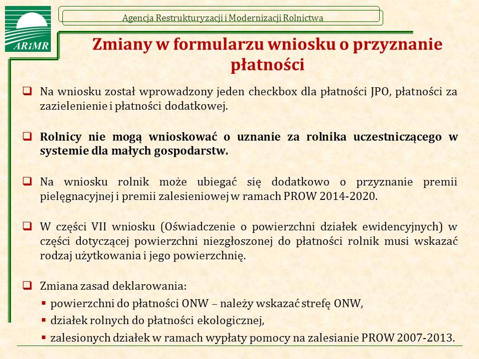 Agencja Restrukturyzacji i Modernizacji Rolnictwa Wzór Wniosku o przyznanie płatności na rok 2016 strona 4/4