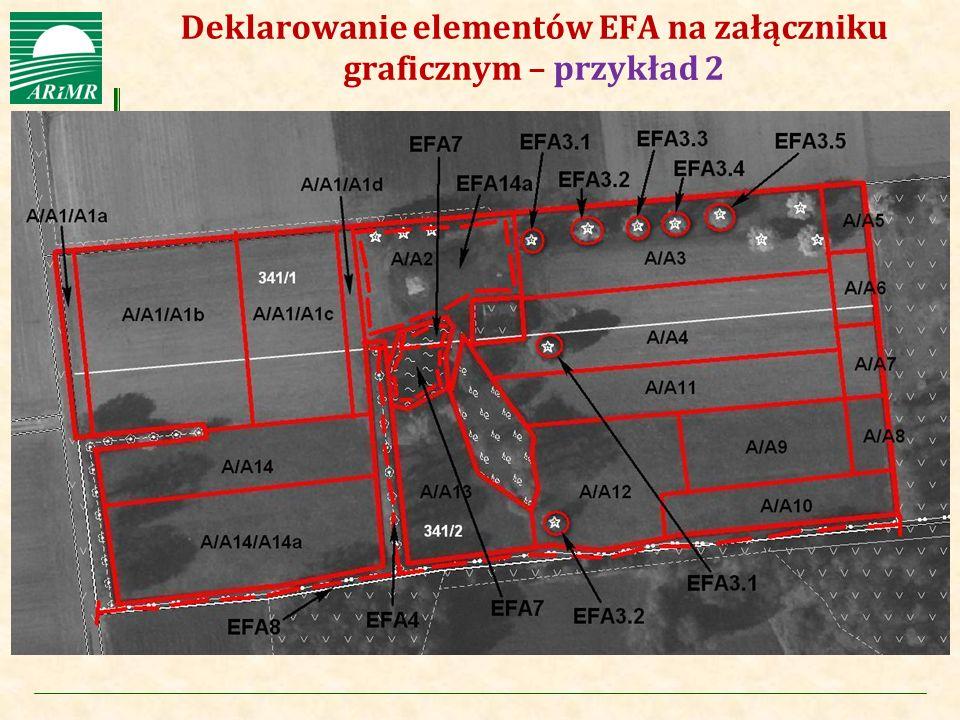 Agencja Restrukturyzacji i Modernizacji Rolnictwa Deklarowanie elementów EFA na załączniku graficznym – przykład 2
