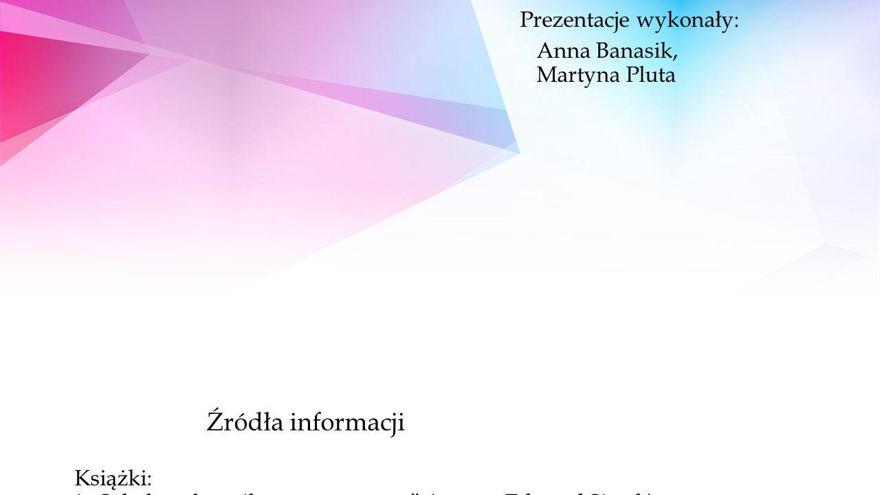"""Dziękujemy za uwagę… Prezentacje wykonały: Anna Banasik, Martyna Pluta Źródła informacji Książki: * """"Szkolny słownik matematyczny (autor - Edward Siwek) * """"Przez rozrywkę do wiedzy."""